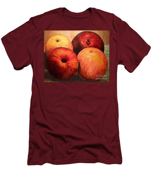 Apples And Oranges Men's T-Shirt (Athletic Fit)