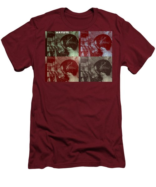Men's T-Shirt (Slim Fit) featuring the photograph Artiste Stevo York Headpainting Part One by Sir Josef - Social Critic - ART