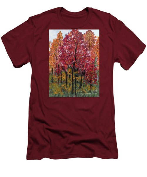 Autumn In Nashville Men's T-Shirt (Slim Fit) by Holly Carmichael