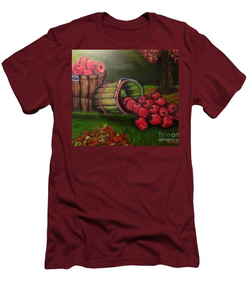 Men's T-Shirt (Slim Fit) featuring the painting Autumn's Bounty In The Volunteer State by Kimberlee Baxter
