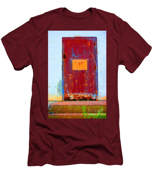 Men's T-Shirt (Slim Fit) featuring the photograph Back Door by Christiane Hellner-OBrien