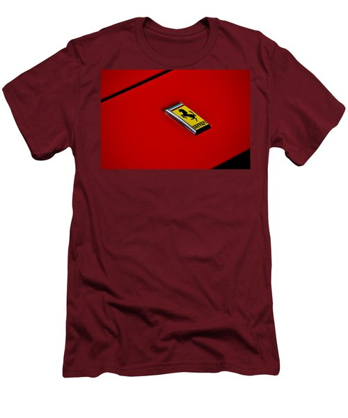 Men's T-Shirt (Slim Fit) featuring the photograph Badge In Red by Dean Ferreira
