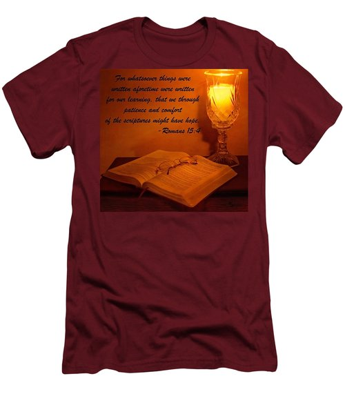 Bible By Candlelight Men's T-Shirt (Athletic Fit)