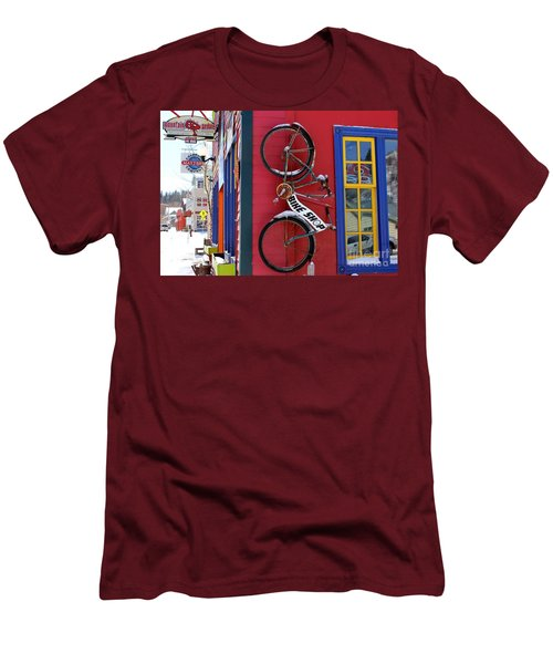 Bike Shop Men's T-Shirt (Slim Fit) by Fiona Kennard