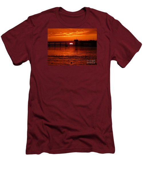 Men's T-Shirt (Slim Fit) featuring the photograph Blazing Sunset by Vicki Spindler