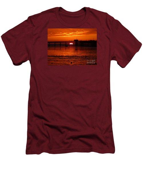 Blazing Sunset Men's T-Shirt (Slim Fit) by Vicki Spindler