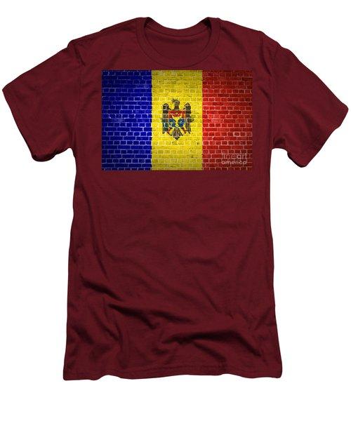 Brick Wall Moldova Men's T-Shirt (Slim Fit) by Antony McAulay