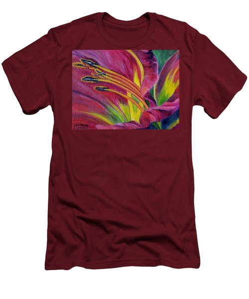 Men's T-Shirt (Slim Fit) featuring the painting Brilliance Within by Marilyn  McNish