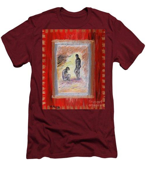 Broken Promises Men's T-Shirt (Slim Fit) by Loredana Messina