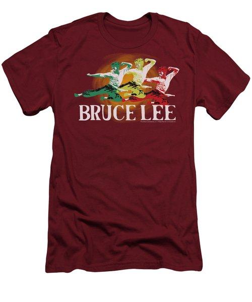 Bruce Lee - Tri Color Men's T-Shirt (Athletic Fit)