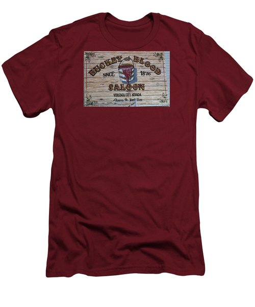 Bucket Of Blood Saloon 1876 Men's T-Shirt (Athletic Fit)