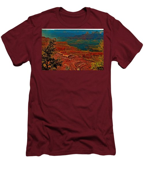 Canyon Colours Show Through Men's T-Shirt (Athletic Fit)