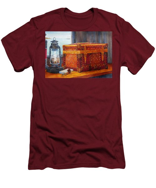 Men's T-Shirt (Slim Fit) featuring the painting Capt. Murray's Chest by Roger Rockefeller