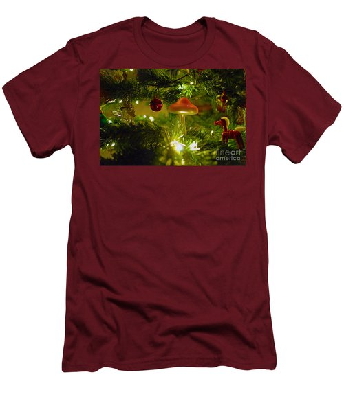 Men's T-Shirt (Slim Fit) featuring the photograph Christmas Card by Cassandra Buckley