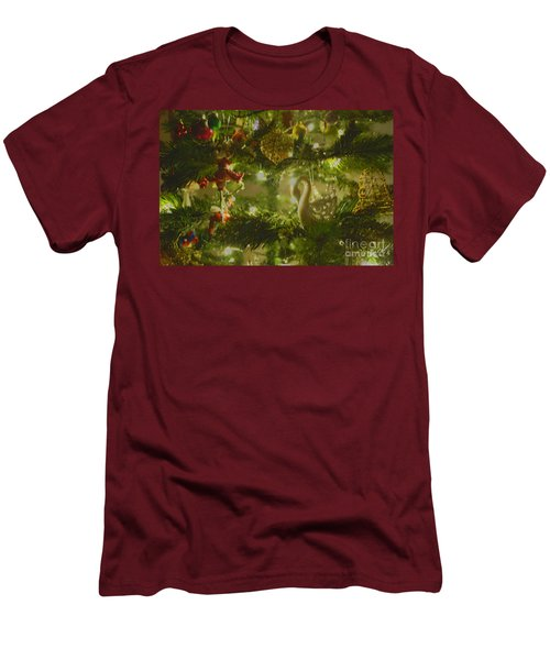 Men's T-Shirt (Slim Fit) featuring the photograph Christmas Cheer by Cassandra Buckley