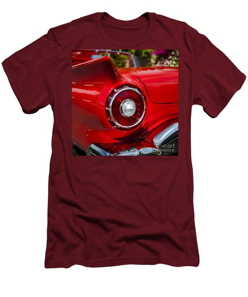 Men's T-Shirt (Slim Fit) featuring the photograph 1957 Ford Thunderbird Classic Car  by Jerry Cowart