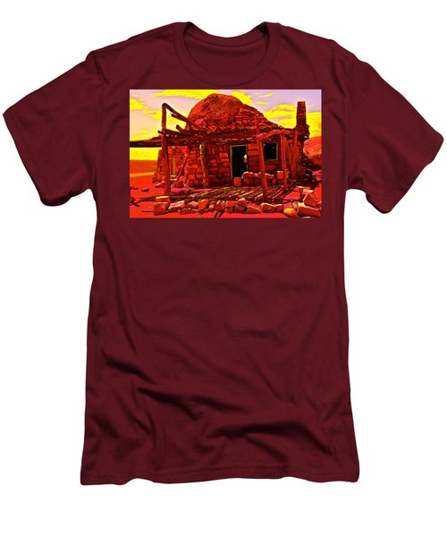 Cliff Dwellers In Red Men's T-Shirt (Athletic Fit)