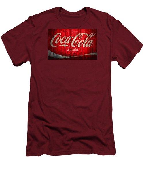 Coca Cola Barn Men's T-Shirt (Slim Fit) by Dan Sproul