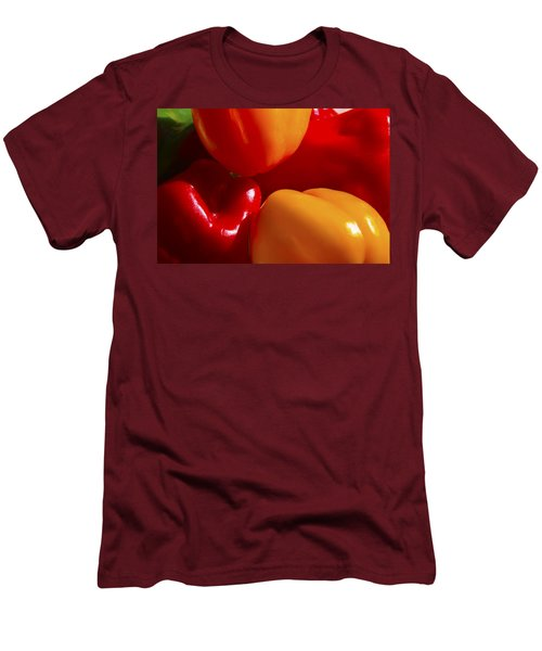 Men's T-Shirt (Slim Fit) featuring the photograph Colorful Bells by Gary Holmes