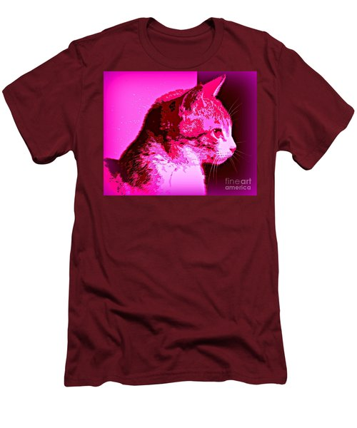 Men's T-Shirt (Slim Fit) featuring the photograph Cool Cat by Clare Bevan