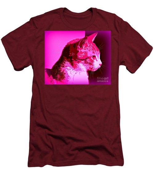 Cool Cat Men's T-Shirt (Slim Fit) by Clare Bevan
