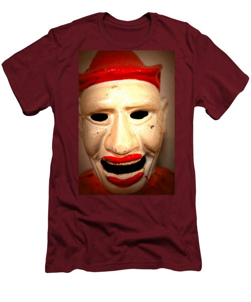 Men's T-Shirt (Slim Fit) featuring the photograph Creepy Clown by Lynn Sprowl