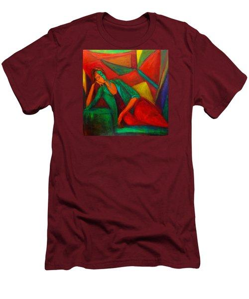 Cubism Contemplation  Men's T-Shirt (Athletic Fit)