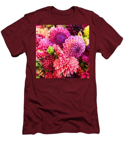 Dahlia Bouquet Number 2 Men's T-Shirt (Athletic Fit)