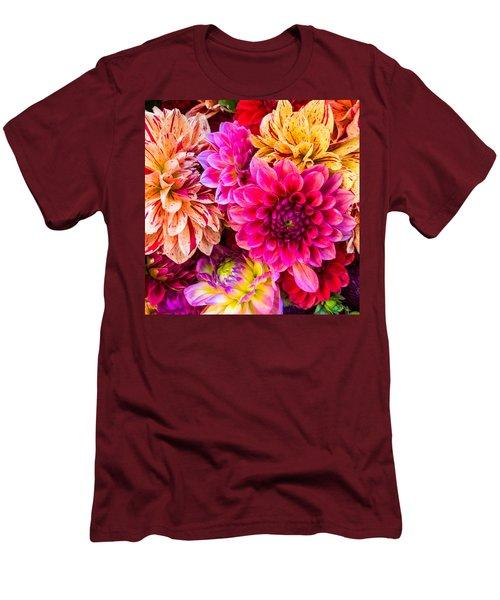 Dahlia Bouquet Number 3 Men's T-Shirt (Athletic Fit)