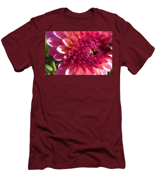 Dahlia Pink 1 Men's T-Shirt (Slim Fit) by Susan Garren