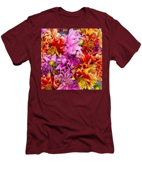 Dahlia Swirl Men's T-Shirt (Athletic Fit)