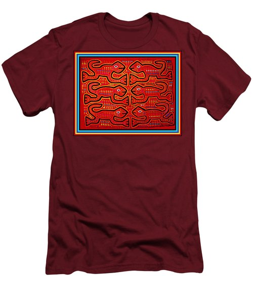 Dancing Geckos Men's T-Shirt (Slim Fit) by Vagabond Folk Art - Virginia Vivier