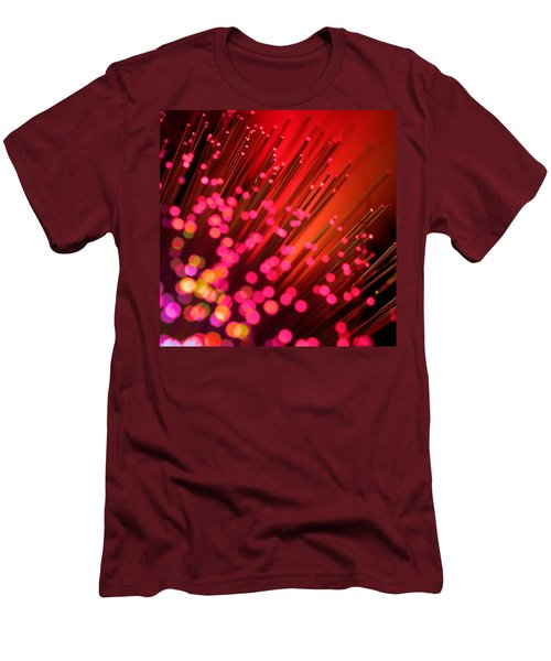 Men's T-Shirt (Slim Fit) featuring the photograph Disco Inferno by Dazzle Zazz