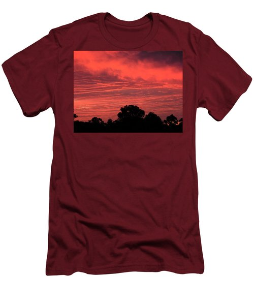 Electric Red Men's T-Shirt (Slim Fit) by Mark Blauhoefer