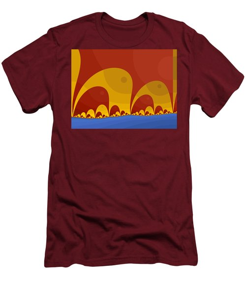 Men's T-Shirt (Slim Fit) featuring the digital art Elephant Lake by Mark Greenberg