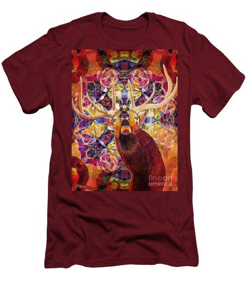 Elk Spirits In The Garden Men's T-Shirt (Athletic Fit)