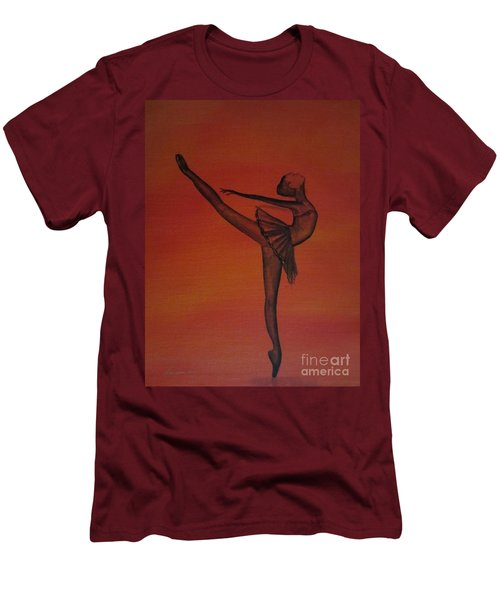 Fall Dancer 1 Men's T-Shirt (Slim Fit) by Laurianna Taylor