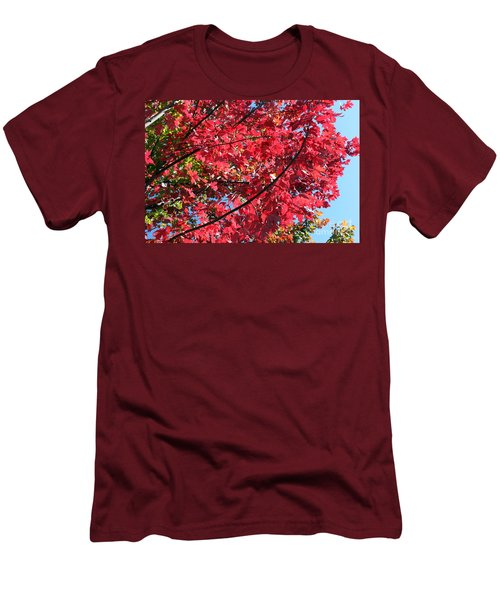 Men's T-Shirt (Slim Fit) featuring the photograph Fall In Illinois by Debbie Hart
