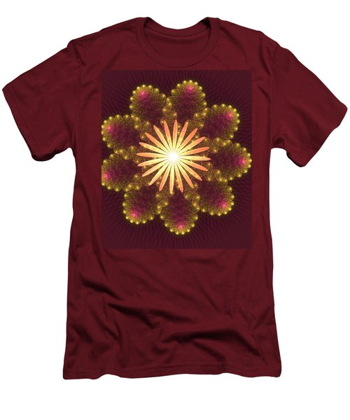 Fire Flower Mandala Men's T-Shirt (Athletic Fit)