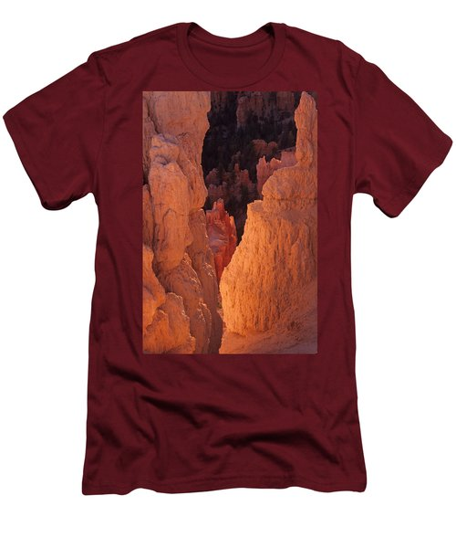 Men's T-Shirt (Slim Fit) featuring the photograph First Light On Hoodoos by Susan Rovira