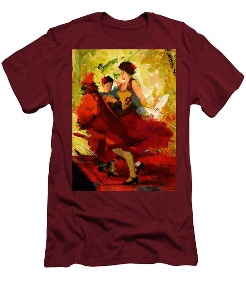 Flamenco Dancer 019 Men's T-Shirt (Athletic Fit)