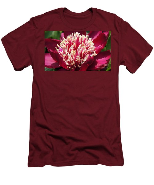 Flaming Peony Men's T-Shirt (Athletic Fit)