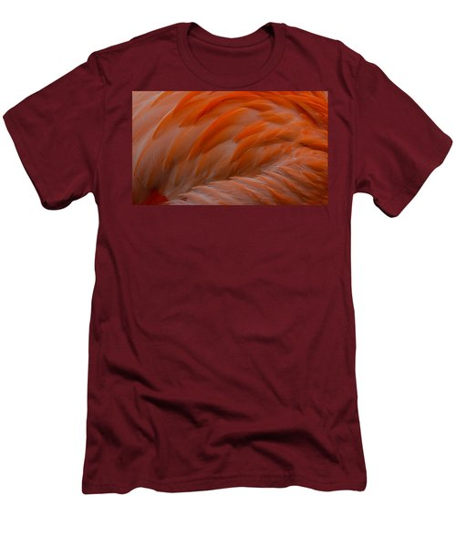 Flamingo Feathers Men's T-Shirt (Slim Fit) by Michael Hubley