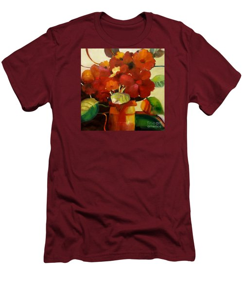 Men's T-Shirt (Slim Fit) featuring the painting Flower Vase No. 3 by Michelle Abrams