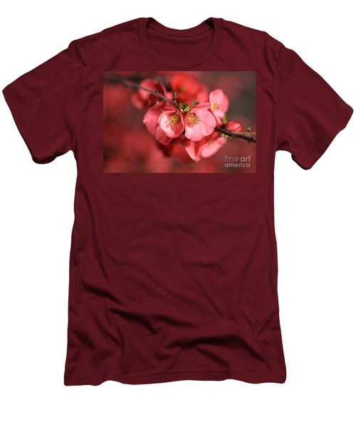 Flowering Quince Men's T-Shirt (Slim Fit) by Joy Watson