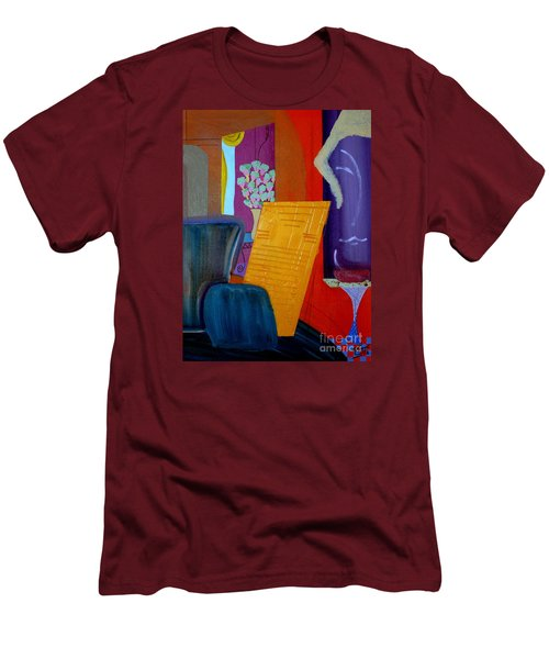 Men's T-Shirt (Slim Fit) featuring the painting Flowers For Matisse by Bill OConnor