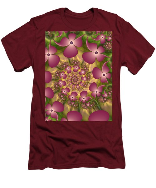 Fractal Joy Men's T-Shirt (Slim Fit) by Gabiw Art