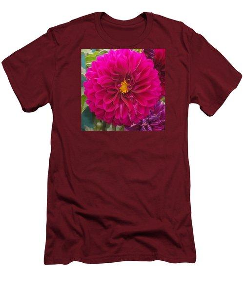 Fushia Men's T-Shirt (Slim Fit) by Catherine Gagne