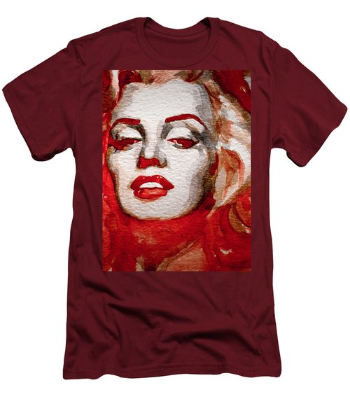 Men's T-Shirt (Slim Fit) featuring the painting Gentlemens Prefer Blondes by Laur Iduc