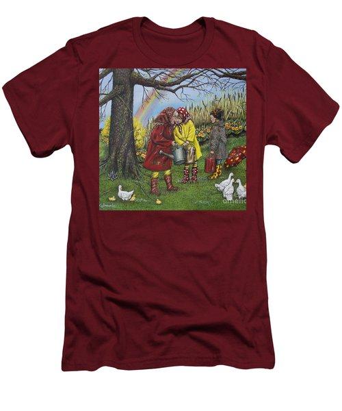 Girls Are Better Men's T-Shirt (Slim Fit) by Linda Simon